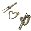 10 Sets Tibetan Silver Heart Toggle Clasp 18x13mm